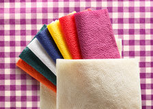 Colorful paper table napkins Royalty Free Stock Photography