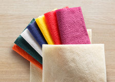 Colorful paper table napkins Stock Images