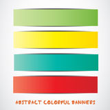 Colorful paper tag set Royalty Free Stock Image