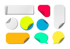 Colorful Paper Tags Collection Stock Images