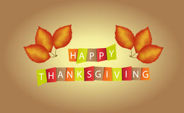 Colorful paper tags or labels with Thanksgiving theme Royalty Free Stock Photography
