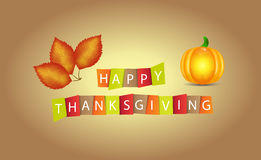 Colorful paper tags or labels with Thanksgiving theme Stock Photos