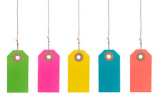 Colorful Paper Tags Royalty Free Stock Image