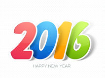Colorful paper text 2016 for New Year celebration. Stock Image