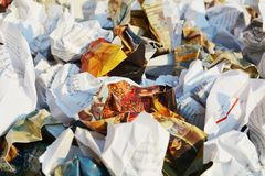 Colorful paper trash, background Stock Images