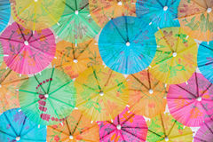Colorful paper umbrellas royalty free stock photos