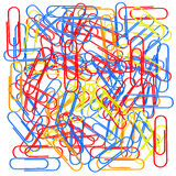 Colorful Paperclips. 3d Rendering Royalty Free Stock Image