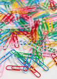 Colorful Paperclips Royalty Free Stock Photos