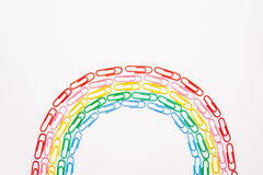Colorful paperclips Stock Image