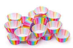Colorful Papers Cup for Baking Cakes Stock Photography
