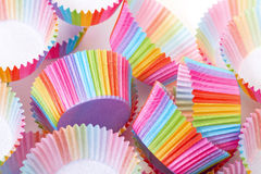 Colorful Papers Cup for Baking Cakes Stock Images