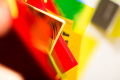 Colorful papers stock photography
