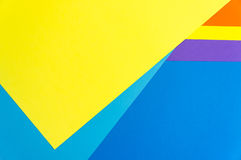 Colorful papers geometry flat composition Stock Images