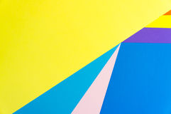 Colorful papers geometry flat composition Royalty Free Stock Photography