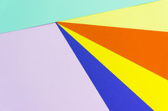 Colorful papers geometry flat composition Stock Photo