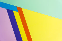 Colorful papers geometry flat composition Stock Photography