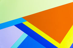 Colorful papers geometry flat composition Royalty Free Stock Images