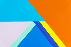 Colorful papers geometry flat composition Royalty Free Stock Image