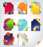 Colorful papers set Royalty Free Stock Photo