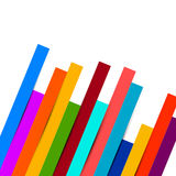 Colorful Papers on White Background. Royalty Free Stock Image