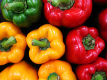 Colorful paprika at the market. Close up photo of colorful paprika at the market Stock Photography
