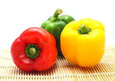 Colorful paprika (pepper). Isolated on a white background stock photo