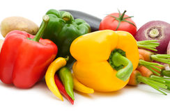 Colorful paprika and vegetables Stock Image