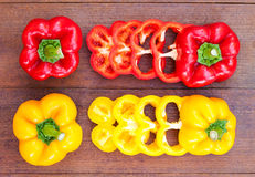 Colorful of paprika Royalty Free Stock Images