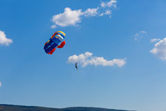 Colorful parachute Stock Image