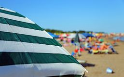Colorful parasol on the beach Royalty Free Stock Photography