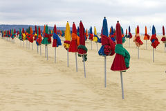 Colorful parasol on the Beach Royalty Free Stock Image