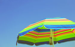 Colorful parasol with the blue sky Stock Photography