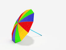 Colorful parasol laid on white background. 3D rendered colorful parasol laid on white background with shadow Royalty Free Stock Images