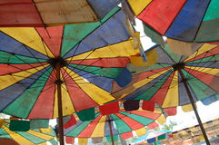 Colorful parasol stock image