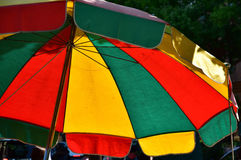 Colorful parasol. Scenery of the colorful parasol of the day when it was fine Royalty Free Stock Photo