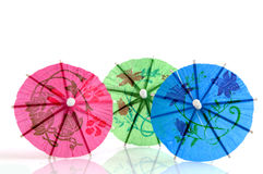 Colorful parasols Stock Images