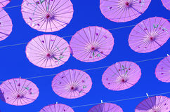 Colorful parasols royalty free stock image