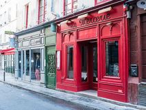 Colorful Paris shop fronts Royalty Free Stock Images