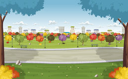 Colorful park in the city Stock Photos