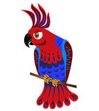 Colorful parrot painting on a white background vector illustrati Stock Photos