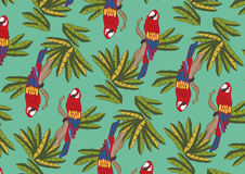 Colorful parrot - pattern design Royalty Free Stock Photography