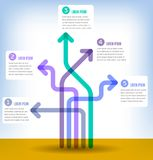 Colorful 5 part infographic Stock Photography