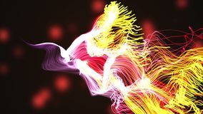 Colorful particle dust abstract digital background 3D graphic animation. stock illustration