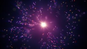 Colorful particles burst and flash light abstract background Royalty Free Stock Images