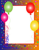 Colorful party background with balloons Stock Photos