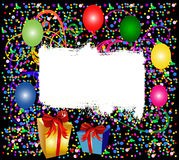 Colorful party background with balloons. Illustration of a colorful party background with balloons Stock Photos