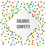 Colorful Party Background with Confetti Royalty Free Stock Photos