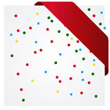 Colorful Party Background with Confetti Stock Photography