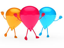 Colorful Party balloon wave Royalty Free Stock Images