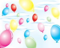 Colorful party balloons Stock Photos
